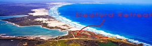 Port Lincoln Accommodation, holiday house, 3 bedroom holiday house, Arial view of Sleaford bay Retreat